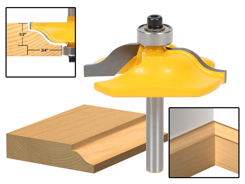 Baseboard molding router bits